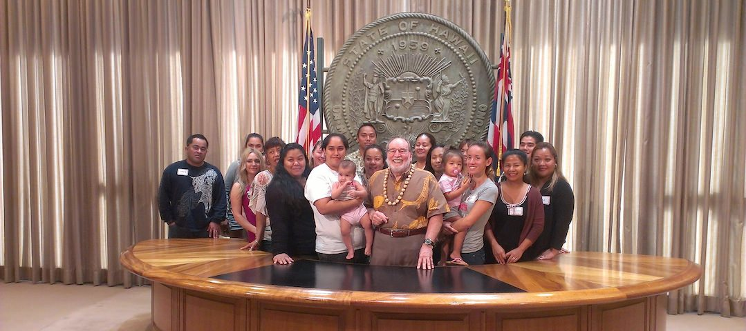 Gov. Abercrombie with Head Start Parents