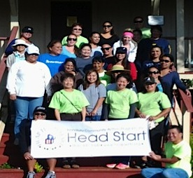 Photo of Head Start staff community service