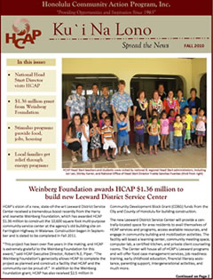 HCAP-Fall 2010 Newsletter