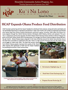 cover of HCAP Fall 2013 Newsletter