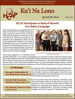 HCAP Fall 2014 Newsletter