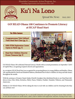 HCAP Fall 2015 Newsletter