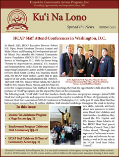 HCAP Spring 2015 Newsletter