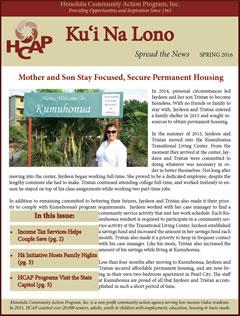HCAP Spring 2016 Newsletter