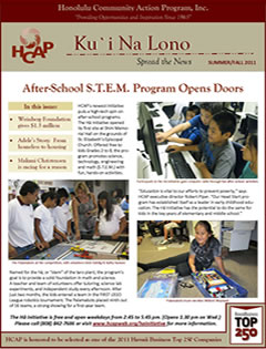HCAP-Summer 2011 Newsletter