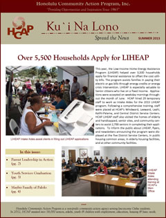 HCAP-Summer 2013 Newsletter