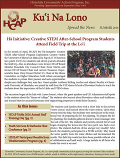 HCAP Summer 2016 Newsletter