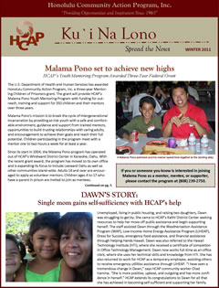 HCAP-Winter 2011 Newsletter