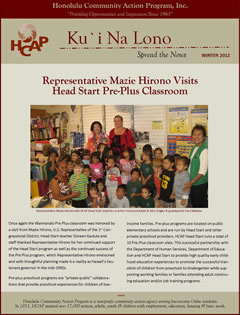 HCAP-Winter 2012 Newsletter