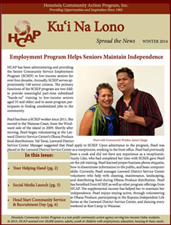 HCAP Winter 2014 Newsletter