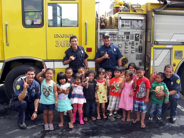Photo of Wahiawa HS Firefighters