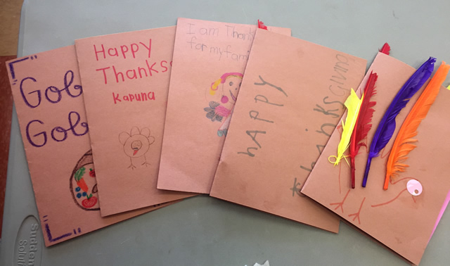 Photo of Head Start Thanksgiving Cards