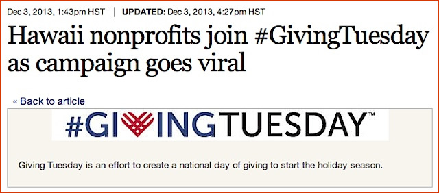 HCAP featured in PBN for Giving Tuesday