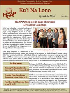 HCAP Fall 2014 Newsletter