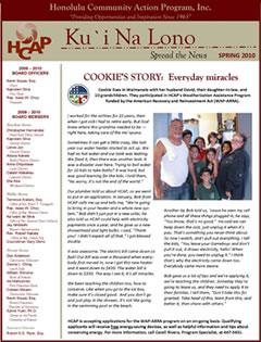HCAP-Spring 2010 Newsletter