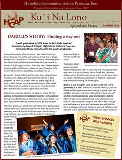 HCAP-Summer 2010 Newsletter