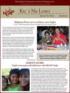 HCAP-Winter 2011 Newsletter