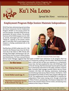 HCAP Winter 2014 Newsletter