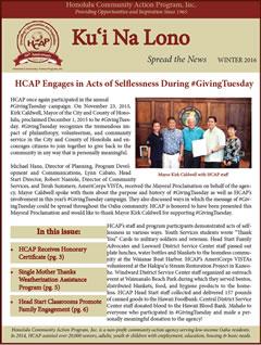 HCAP Winter 2016 Newsletter