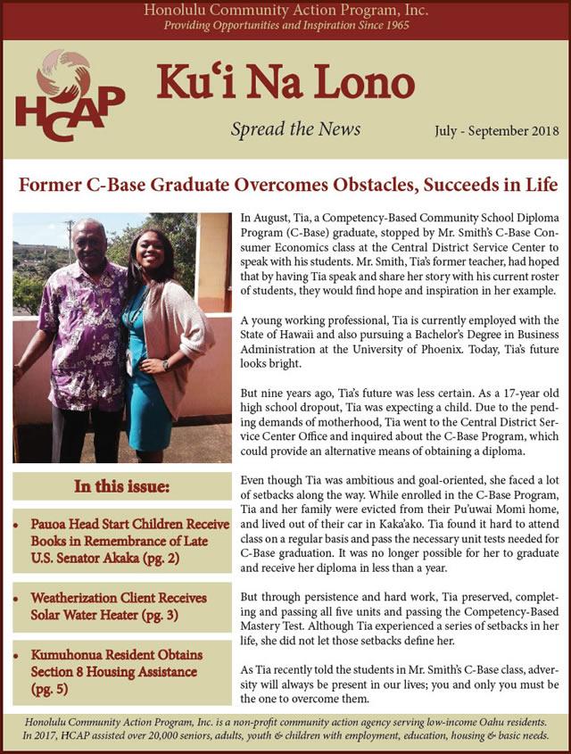 Photo of HCAP-HCAP-July-September-2018-Quarterly-Newsletter