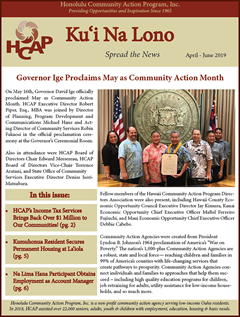 HCAP April-June 2019 Quarterly Newsletter