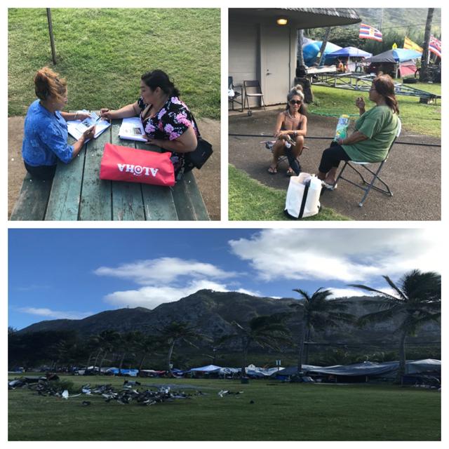 Photo of Windward Waimanalo homeless encampment collage