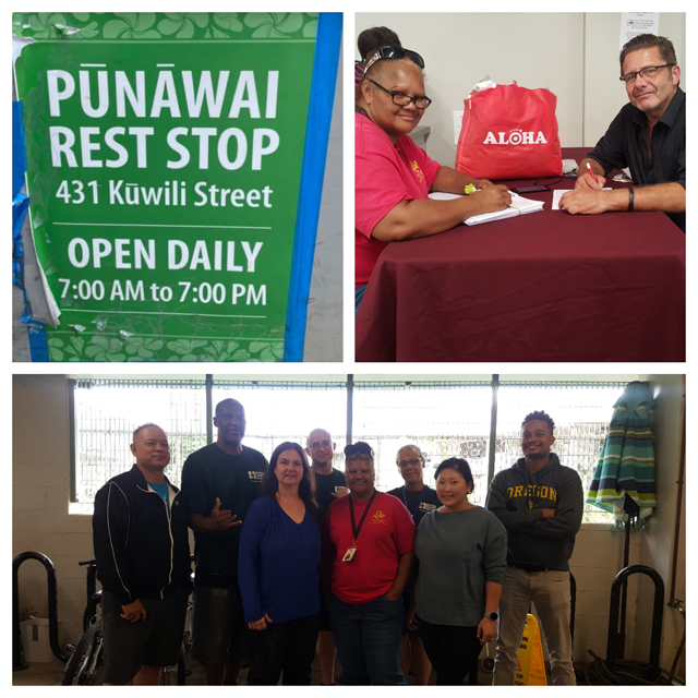 Photo Punawai Rest Stop collage