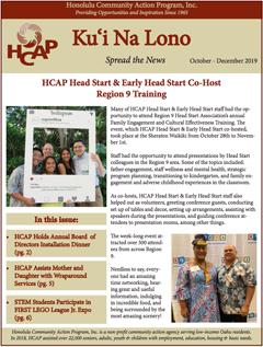 HCAP October-December 2019 Quarterly Newsletter
